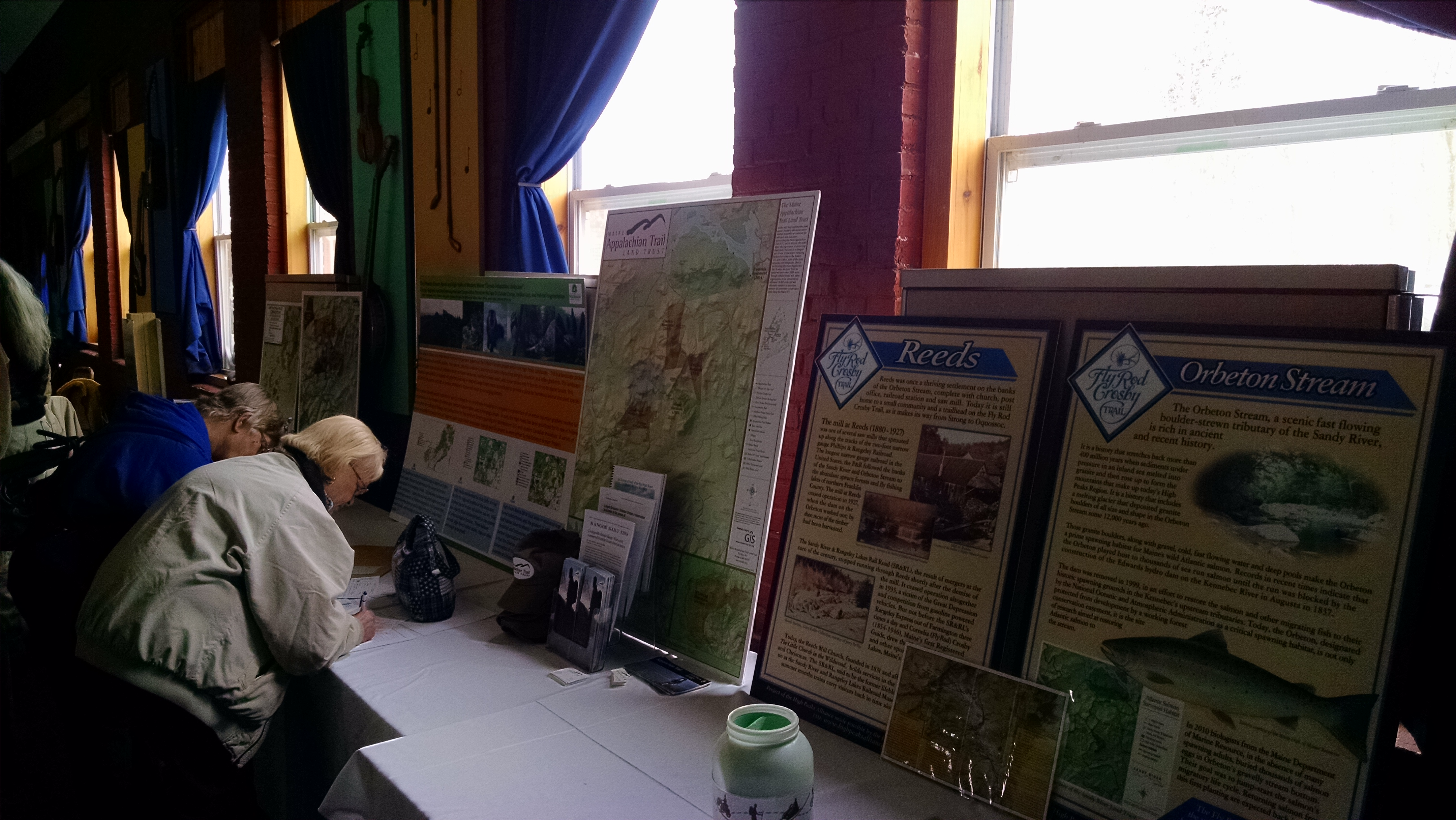 Maps on display.