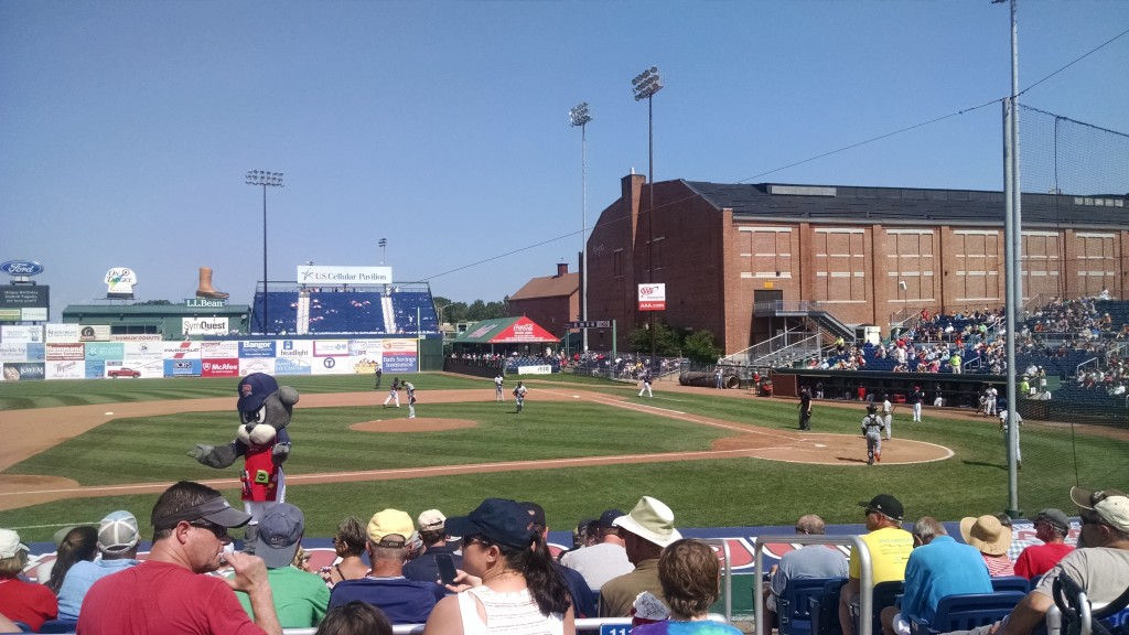 Hot day at Hadlock! Too bad the Sea Dogs lost...