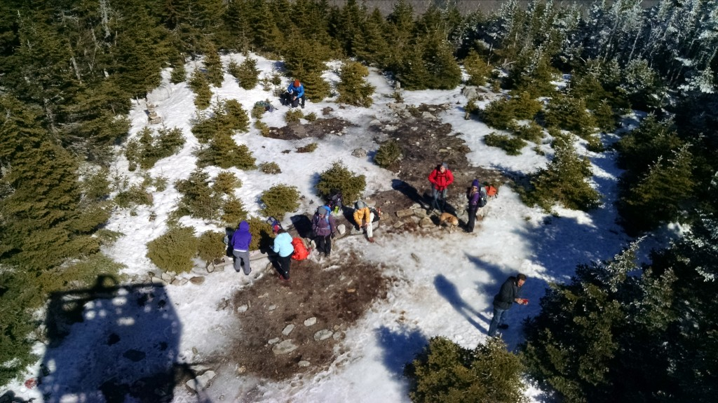 The group as seen from the fire tower.