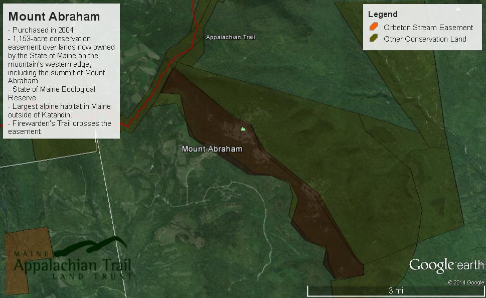 Mount Abraham Area Map